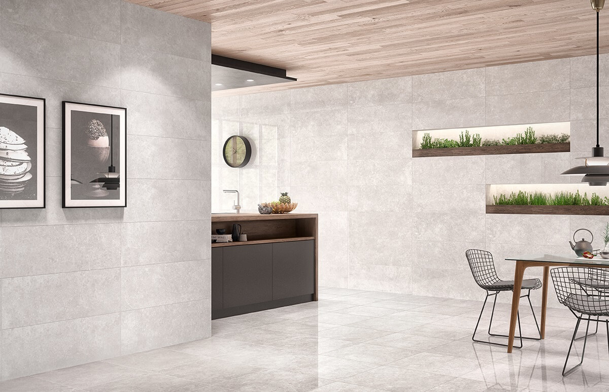 Marble effect ceramic tiles